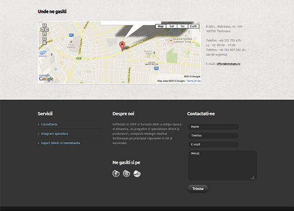 captură website Neologis