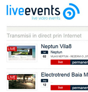 corporate id, web design, modul de administrare site, optimizare site - Live Events