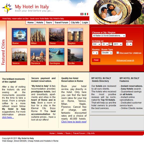 Creare magazin online my hotel in italy web design for Design hotels in italien