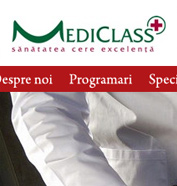 corporate id, web design, modul de administrare site, optimizare site - MediClass