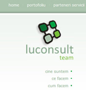 corporate id, web design, modul de administrare site, optimizare site - Luconsult