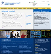 web design, modul de administrare site, optimizare site - PRAS Consulting