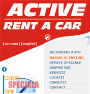 web design, modul de administrare site, optimizare site - Active Rent a Car