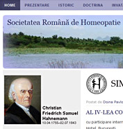 web design, cms pe platforma wordpress - Societarea Română de Homeopatie